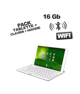 TABLETTE ANDROID 10.1' NOIRE + CLAVIER BLUETOOTH